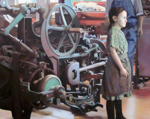 Limited Edition Digital Archival Print of MILL GIRL Painting
