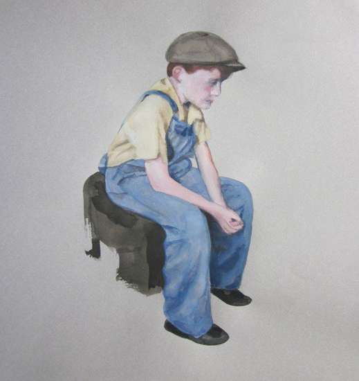 SEATED MILL BOY